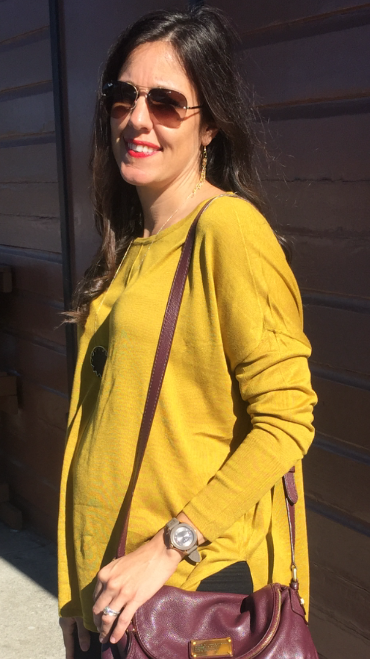 How to style the bump | maternity fashion | fall fashion | styling for fall and winter | cool weather | yellow sweater