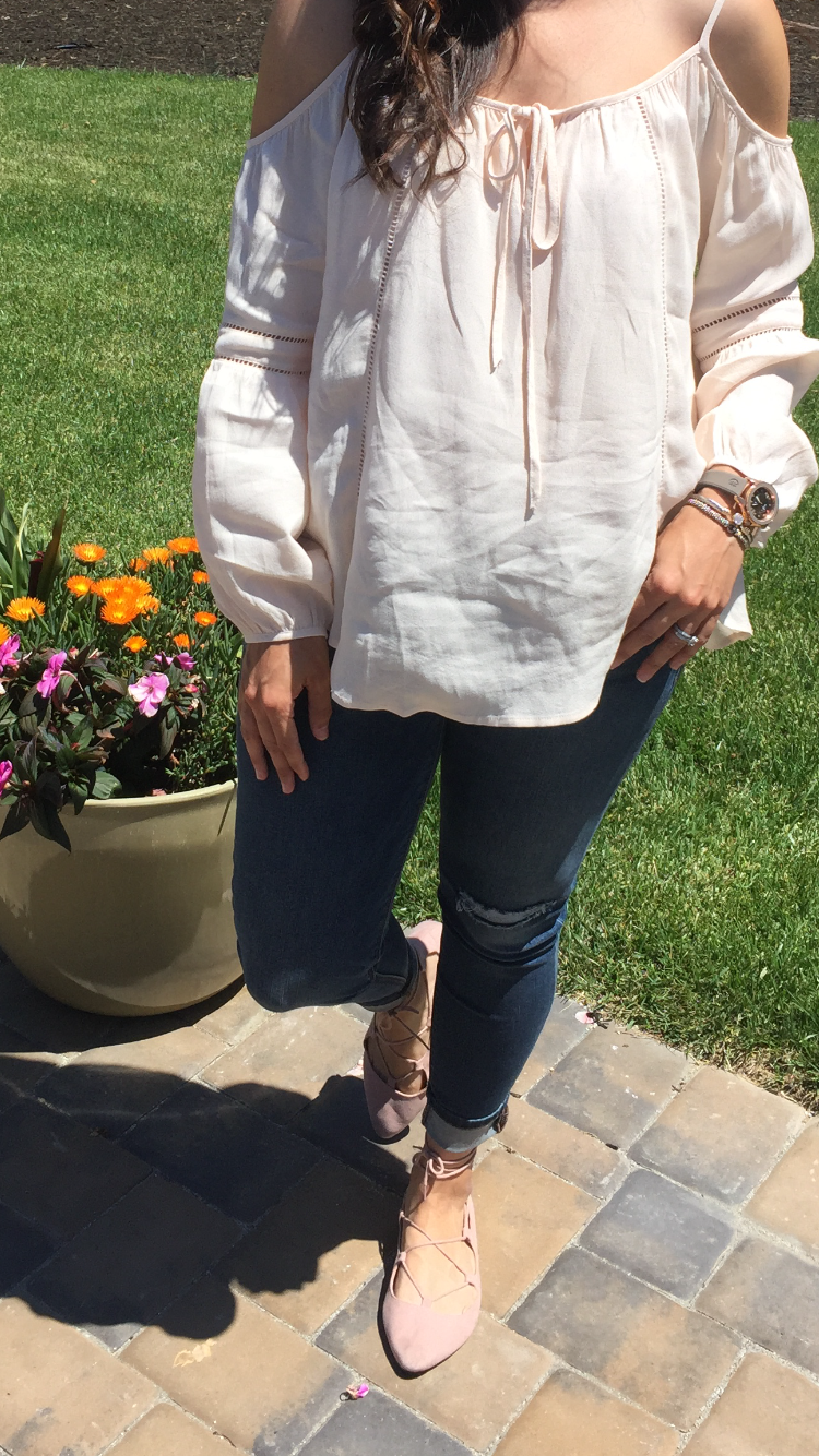 How to style a cold shoulder | spring and summer style ideas | spring fashion tips | warm weather fashion ideas