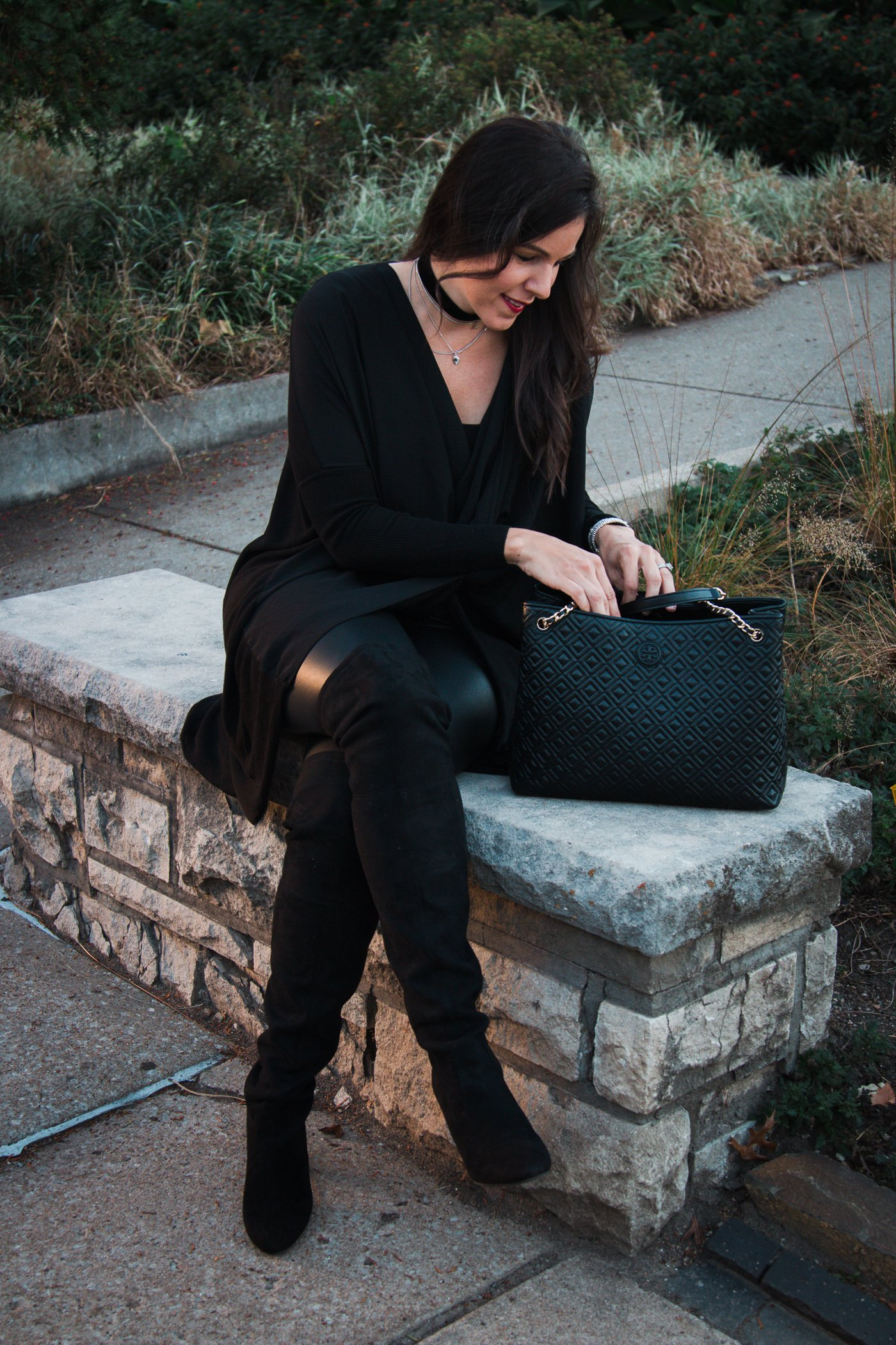 How to style over the knee boots | fall and winter style | winter fashion | cool weather | leather legging