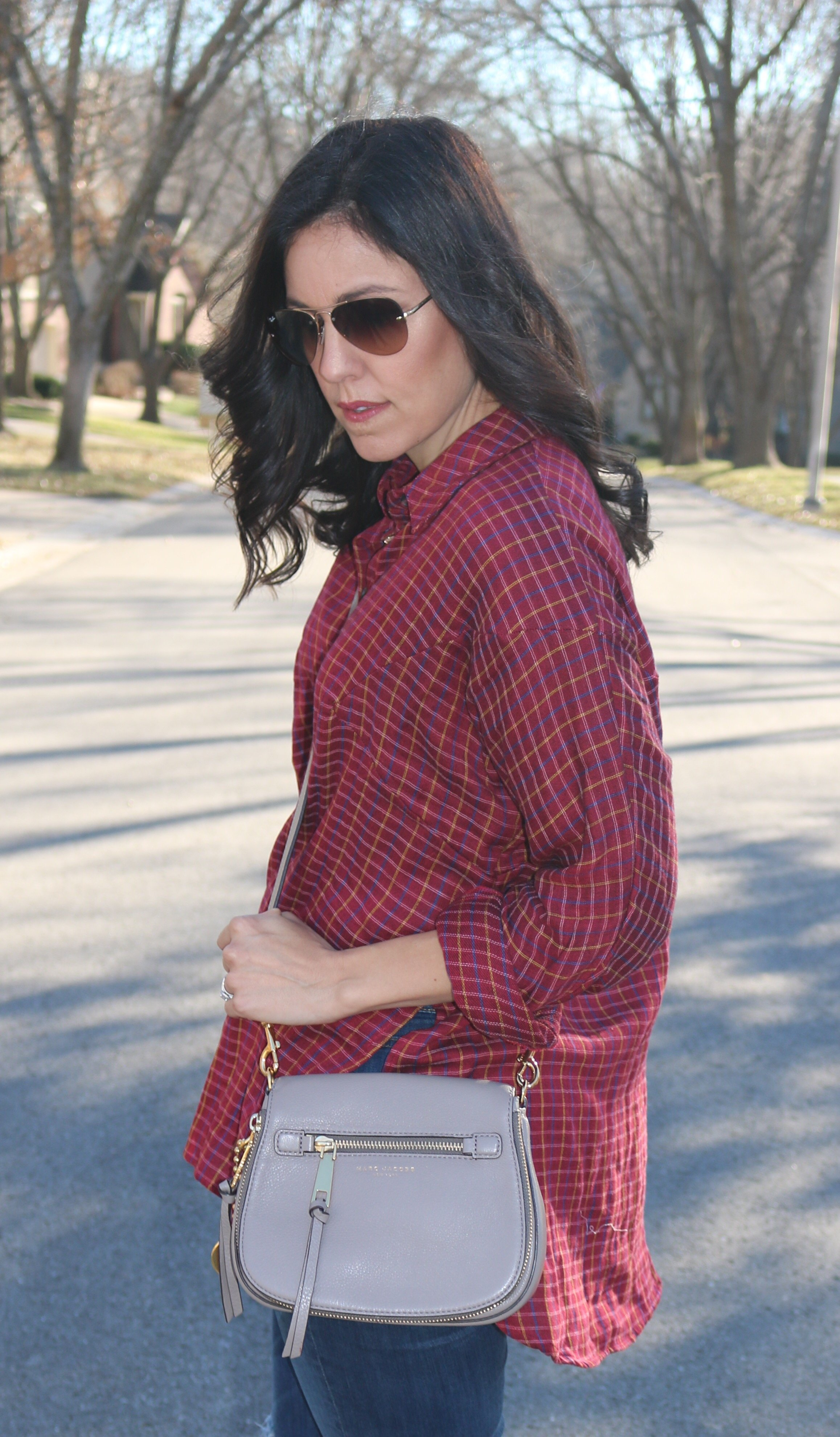 How to style plaid | fall and winter style ideas | fall fashion tips | cool weather fashion ideas | how to style booties