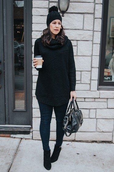 How to style cowl neck | fall and winter style idea | winter fashion tip | cool weather
