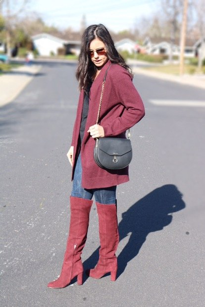 How to style over the knee boots | fall and winter style ideas | winter fashion tips | cold weather fashion