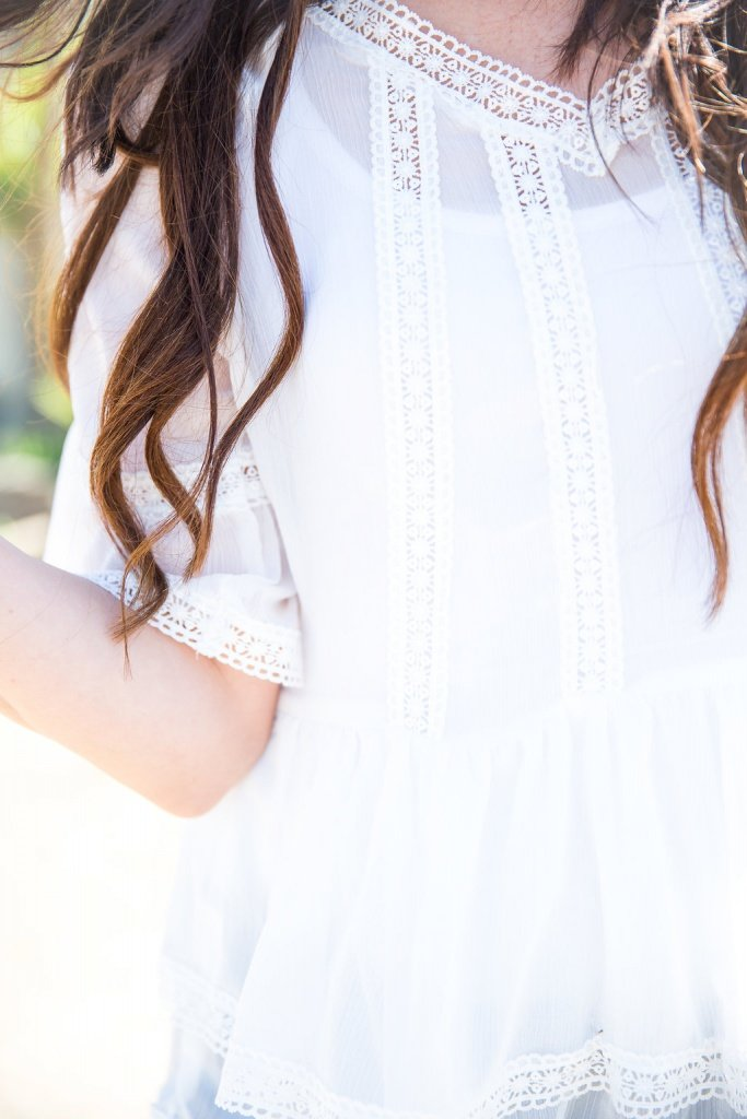 Lace Peplum Top, How to style a peplum top, styling tips for spring, spring and summer fashion, peplum outfit, Roehampton Road, The Flexman Flat