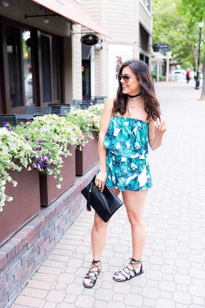 4 Reason You Need A 2-Piece Romper Set, How to style a romper, romper outfit ideas, how to wear a bold print, summer rompers, tips for styling a romper