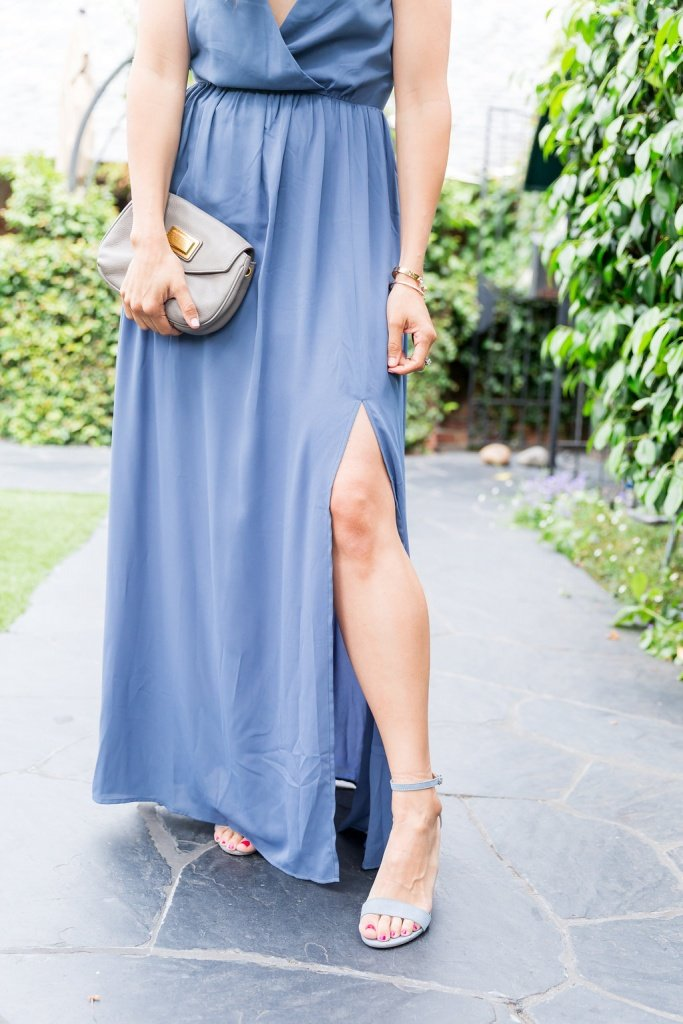 How to Dress for a Summer Wedding, blue maxi dress, maxi dress outfit, how to wear a maxi dress, dresses for summer wedding, what to wear to a summer wedding, blue shoes outfit