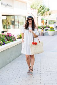 Striped Off the Shoulder Dress + Mommy Daughter 4th of July Style