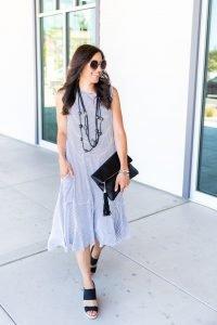 Black + White Dress