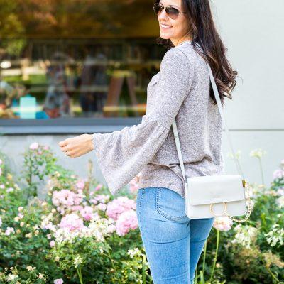 Fleece Bell Sleeve Top + Flatform Sandals