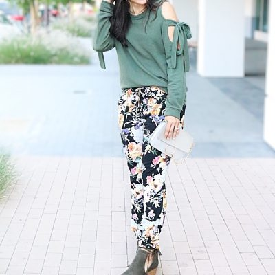 Floral Joggers + Tips for Wearing Bold Prints