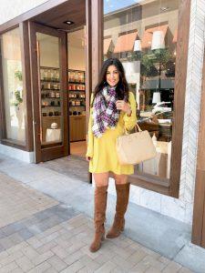 Wearing Bright Colors: Yellow Shift Dress