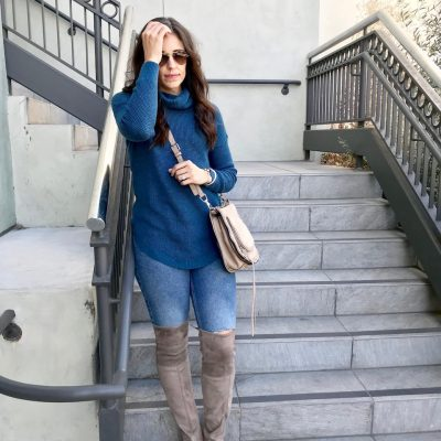 Cozy Sweater + Over The Knee Boot Styling Tips