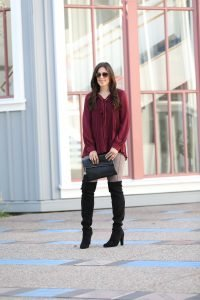 Red Blouse Holiday Outfit+ Gift Guide For Her