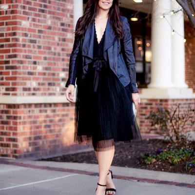 Lace, Tulle, Leather + A little Sparkle