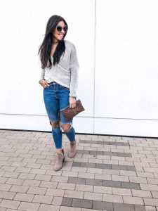 Wrap Sweater + Why Every Woman Needs High-Waisted Jeans